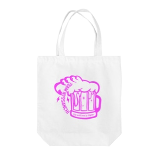 TEAM NYOSANCHI01(ピンク文字) Tote bags