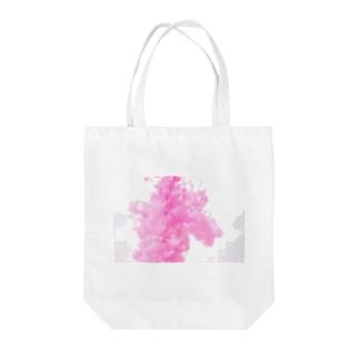 ピンクの雲 Tote bags