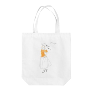 palette: Orange Tote bags