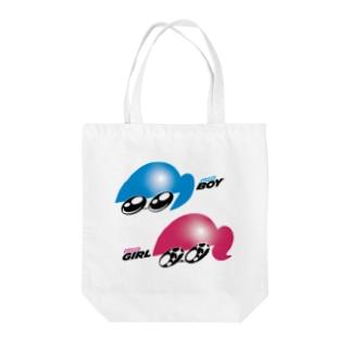 BOY GIRL Tote bags