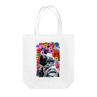 ASTRONAUT and FLOWERS Tote bags