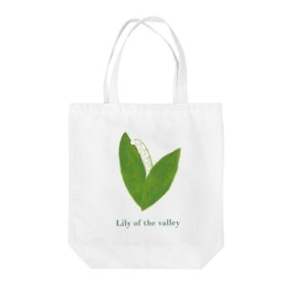 スズラン(濃ロゴ) Tote bags