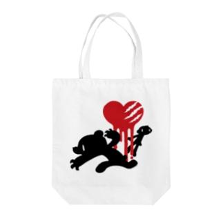 【各20点限定】いたずらぐまのグル〜ミ〜(#23/black) Tote bags