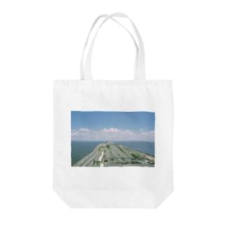 The SongsariのWhite n Blue Tote bags