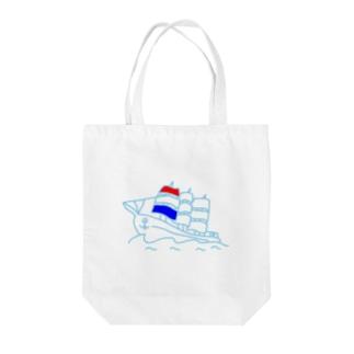帆船~ホワイトシップ~ Tote bags