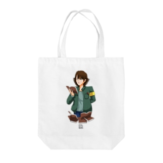 読書の秋 ~図書館にて~ Tote bags