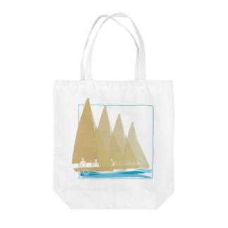 セーリングヨット Tote bags