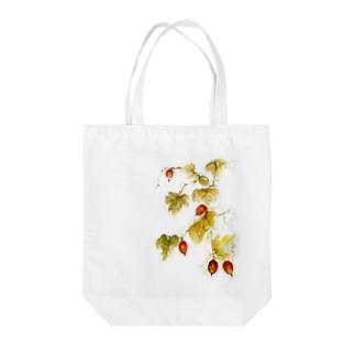 秋色 烏瓜 Tote bags
