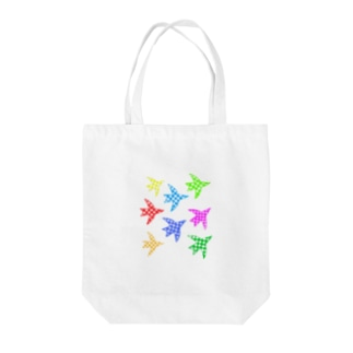colorful wings Tote bags