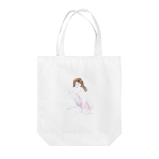Naked woman Tote bags