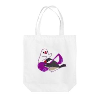 音符と文鳥 Tote bags