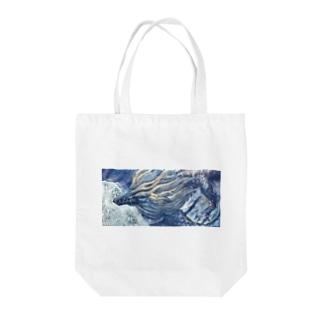 月夜の青龍 Tote bags