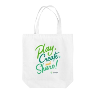 Springin' 「Play, Create, and Share!」 Tote bags