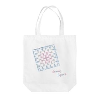編み図トートバッグ-グラニースクエア Tote Bag