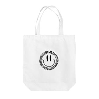 中華ニコニコ Tote bags