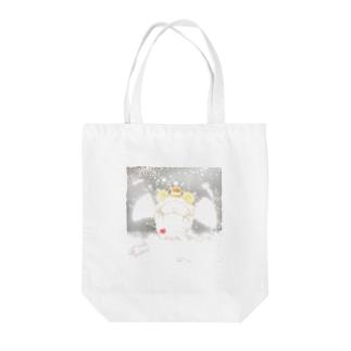 《イラスト13》*てんしなひつじ*ホワイト Tote bags