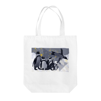 ペンギンスター Tote bags