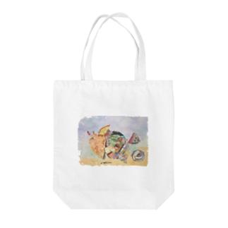 ホラガイ 水彩画 Tote bags
