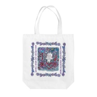 SAKURANOSUKE AMETHYST NIGHT/絵画トート Tote bags