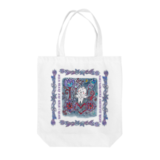 ERIKOERIN ART SHOPのSAKURANOSUKE AMETHYST NIGHT/絵画トート Tote bags
