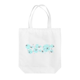 クラゲ(:]ミ(:]彡(:]ミ(:] 彡 Tote bags