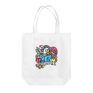 Chubby Bird オカメインコとマンドリン Birdic Inspiration Tote bags