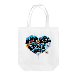 ハッピーハロウィーン Tote bags
