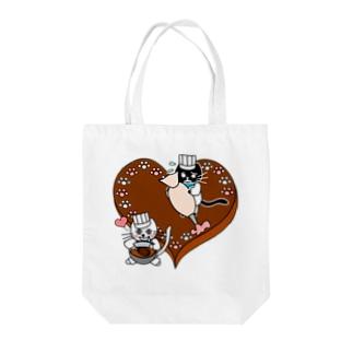 J's Mart 2ndのたまとクロのバレンタインチョコ Tote bags