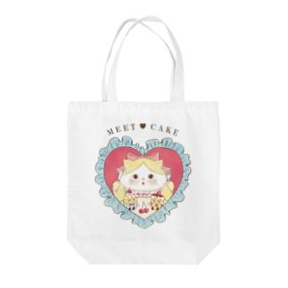 meet/cat Tote Bag
