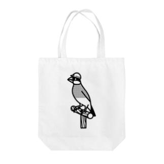 ヘルメット文鳥 Tote bags