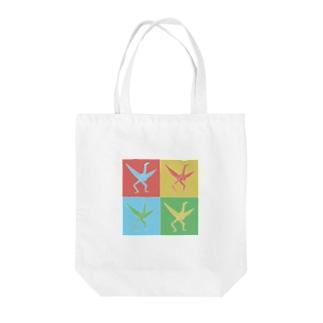 折り鶴の自立 Tote bags