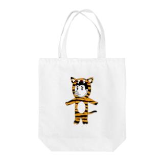 タイガーピッグ Tote bags