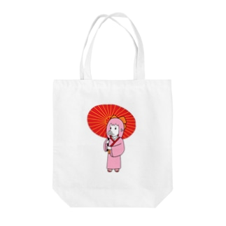 お豚(とん)さん、和傘をさす。 Tote bags