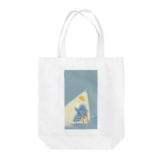 夜の読書 Tote bags