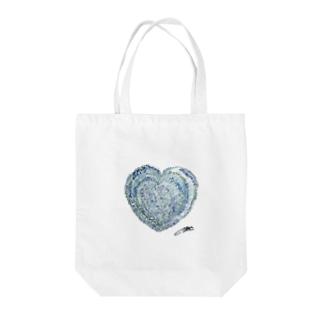 MEG♀の運命の恋・ハート Tote bags