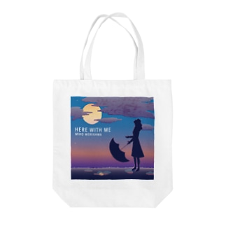 トートバッグ淡色【HERE WITH ME】】 Tote bags