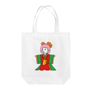 ジュウニヒトンエ(十二単豚衣)!? Tote bags