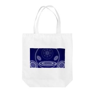 マジシャンズサークル Tote bags