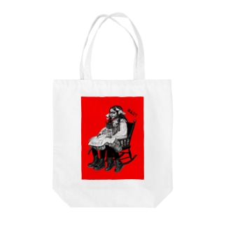 Mad Girl Tote bags