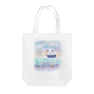 地平線の正体 Tote bags
