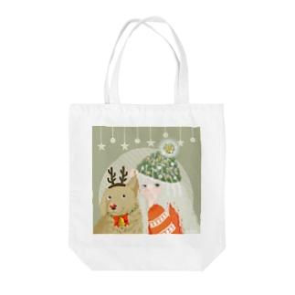 クリスマス前の作戦会議 Tote bags
