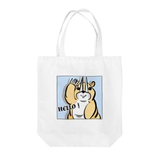 Hello!ケラトガウルス Tote bags