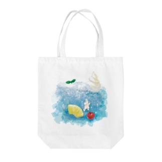 ブルーハワイ Tote bags