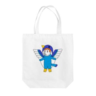 幸せの青いブタトギス Tote bags