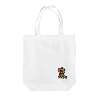 BASEfor BEAR Rainbow Tote bags