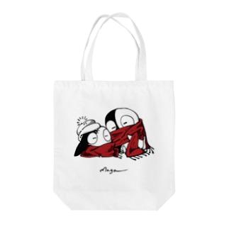 【冬だし暖まがたまる】 Tote bags