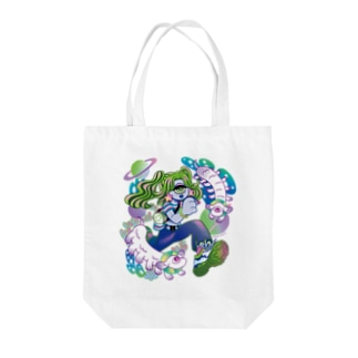 Makiko KodamaのStreetは宇宙 No.2 Tote bags