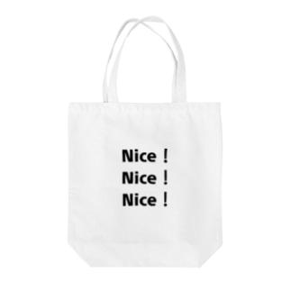 Nice!Nice!Nice! Tote bags