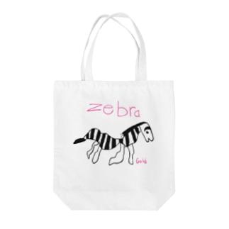 幸せのZebraくん Tote bags