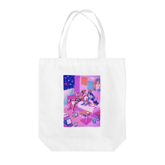 LIVING TOGETHER Tote bags